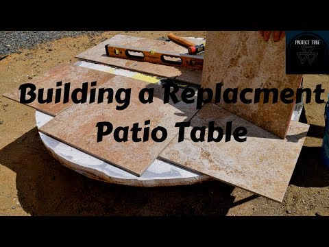 Building a Tile Table Top for my Patio Table