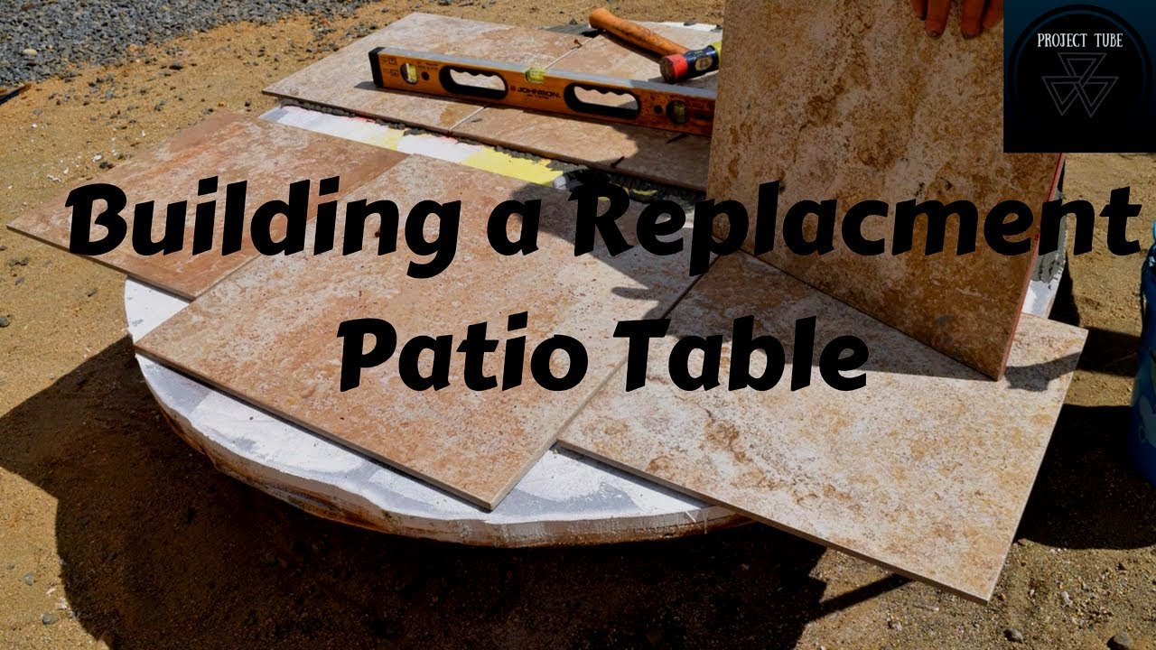 Building a Tile Table Top for my Patio Table  YouTube