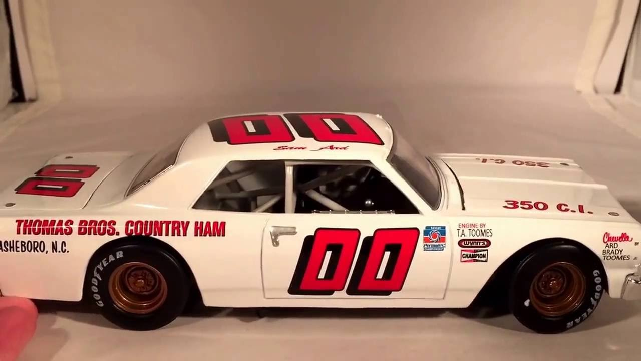 Review: 1965 Sam Ard #00 Thomas Bros Country Ham Chevy Chevelle 1/24 NASCAR - YouTube