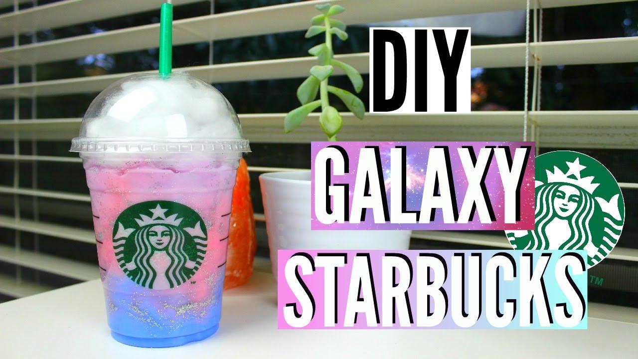 Diy Room Decor Galaxy In A Starbucks Cup Youtube