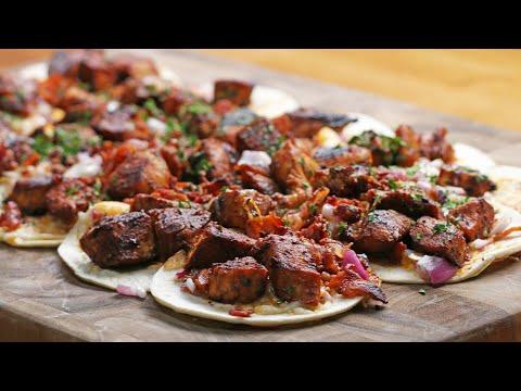 Honey BBQ Chicken Pizza Tacos