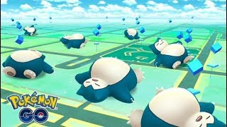 Snorlax Using Yawn in Battle! SNOOZING WITH SNORLAX Exclusive Pokemon Go Event Move!