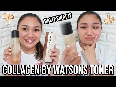 Bakit Sikat Collagen By Watsons Toner Review Youtube