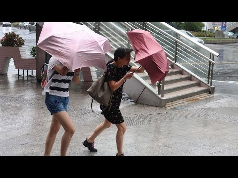 Typhoon Ampil makes landfall in east China's Shanghai