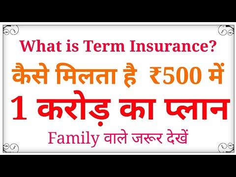 Term Insurance plan - detail explanation