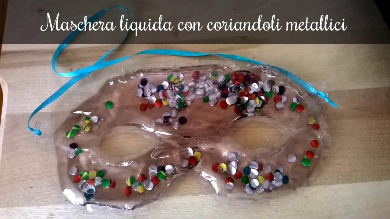 Maschera Di Carnevale Liquida Con Coriandoli Metallici Fai Da Te