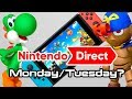 Nintendo Direct on Monday/Tuesday?