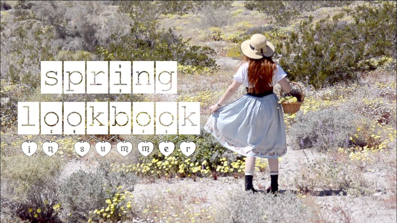 a spring lookbook in summer because i procrastinated //+drying wildflowers 7
