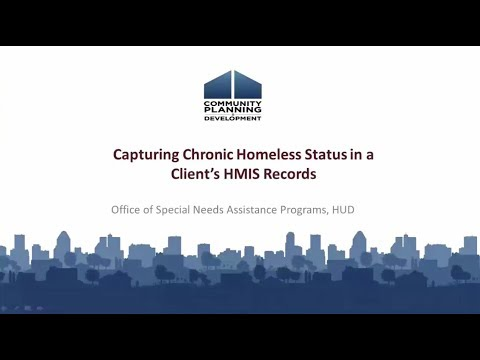 Capturing Chronic Homeless Status in a Client's HMIS Records