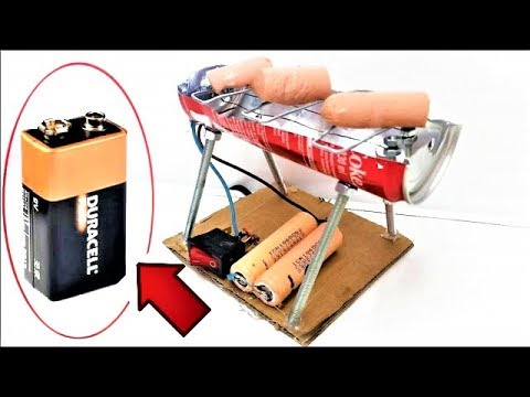 Amazing Mini BBQ from Coca Cola Can on Batteries