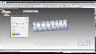 Solid Edge ST6 - Eğitim Videoları (Senkron Modelleme) -23- Senkron Helix Cutout