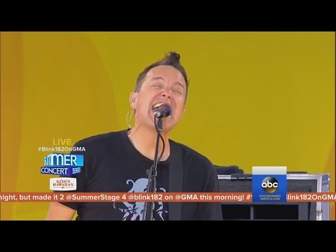 Blink 182 - Bored to Death live (2016, Good Morning America)