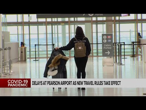 Toronto Pearson airport warning travellers to expect delays