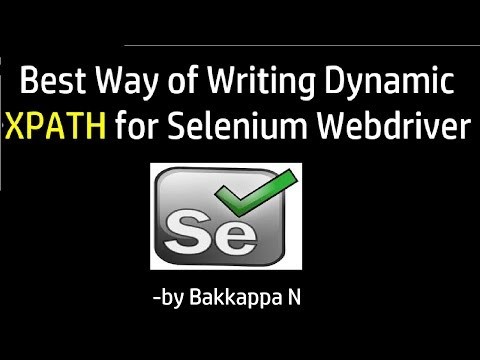 How to write Dynamic XPath in Selenium WebDriver in Multiple ways