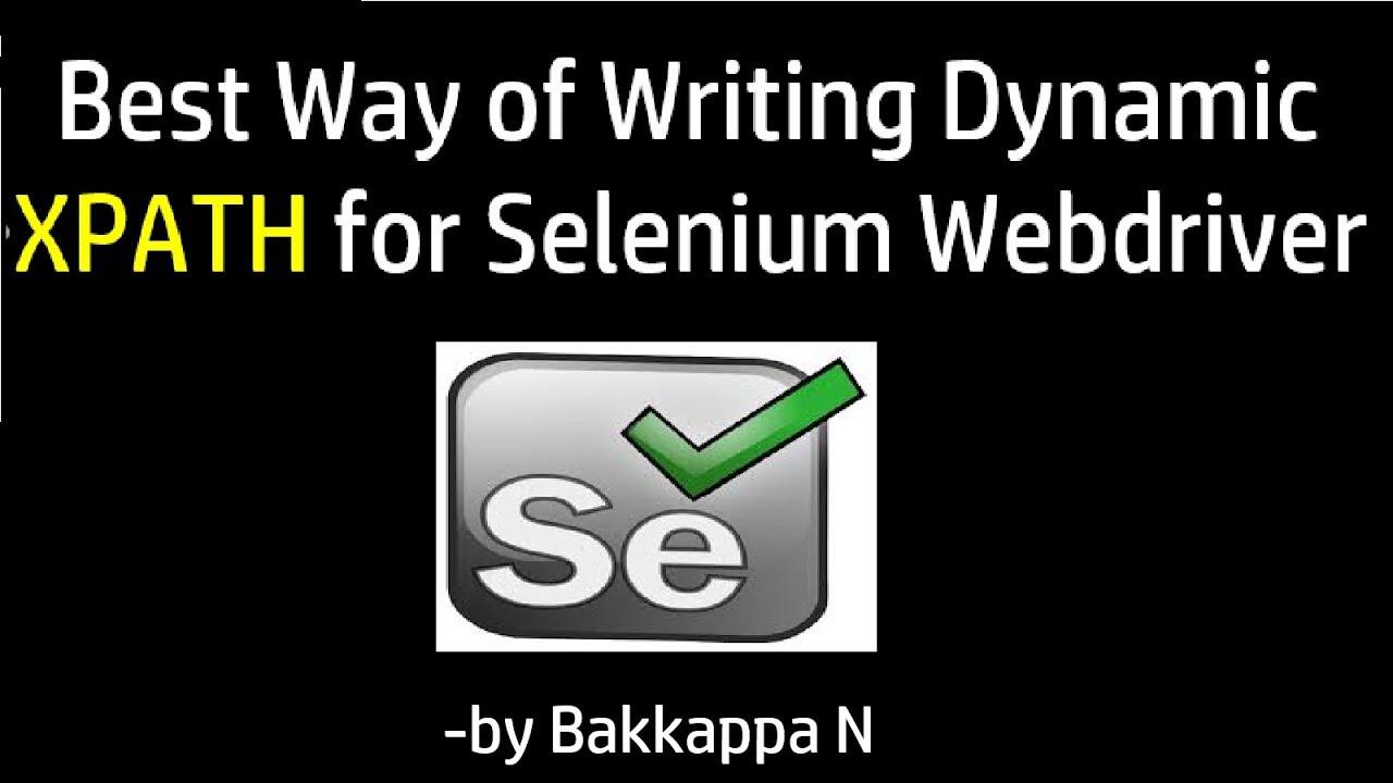 how to create xpath in selenium