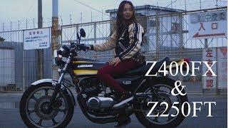 【Short version】Cute mother and sons ride on Kawasaki / 仲良くZに乗る親子