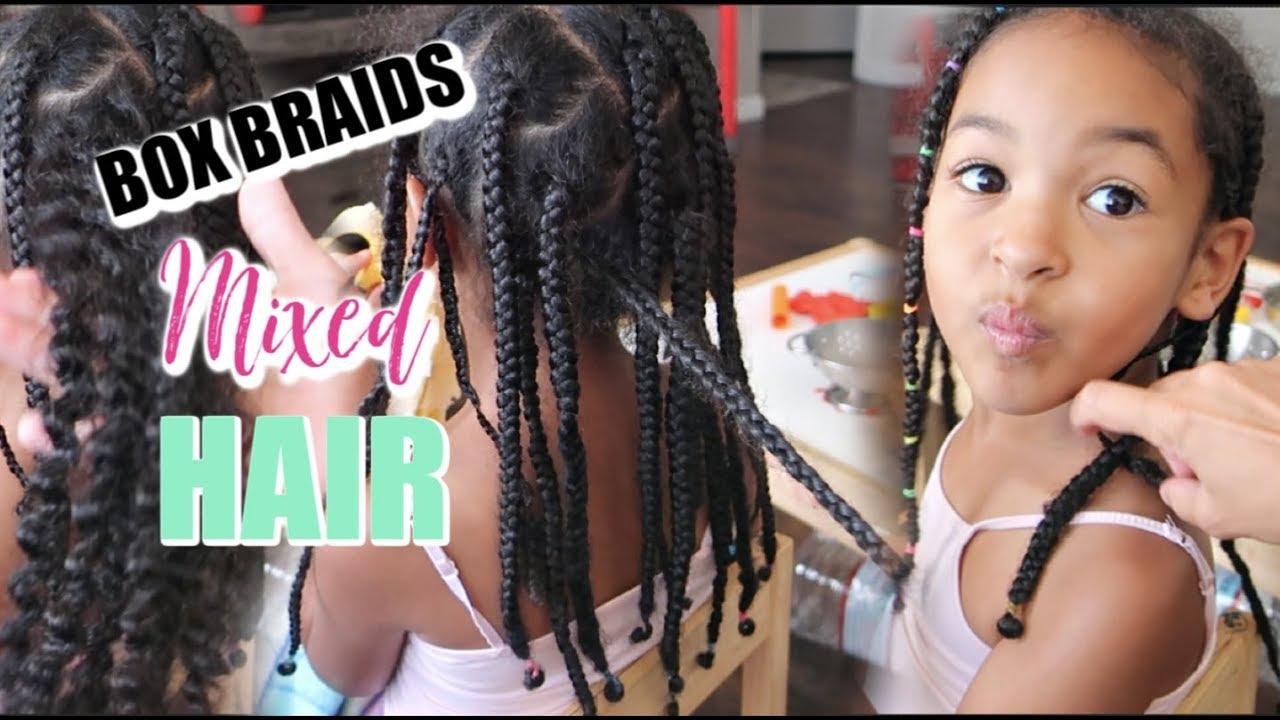 Box Braiding Mixed Kids Hair   Taking Out 15 Week Old Box Braids
