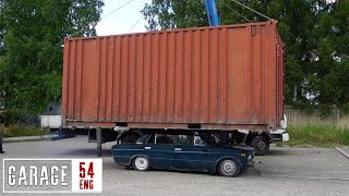 Shipping container vs Lada