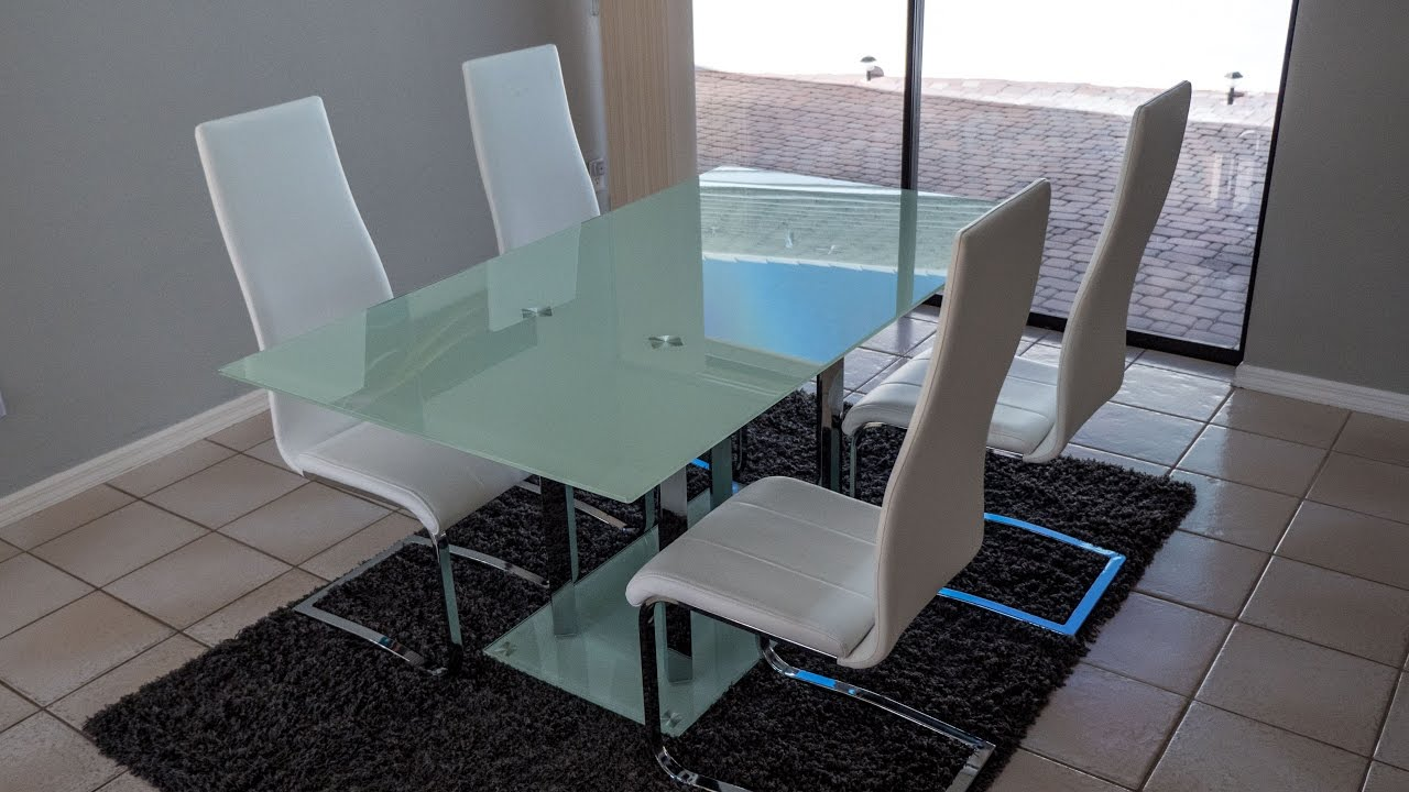 Superbe [REVIEW] Coaster Home Furnishings Geneva Contemporary Glass Dining Table