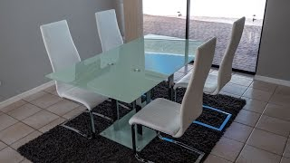[REVIEW] Coaster Home Furnishings Geneva Contemporary Glass Dining Table