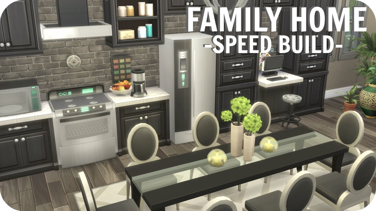The Sims 4 Large Family Home Speed Build No Cc Realistic