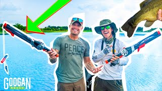Googan ROCKET FISHING ROD 1v1 Challenge! ( LunkersTV vs LFG )