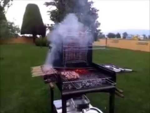 Barbecue a legna sale e cuore in azione youtube - Barbecue in pietra per esterni ...