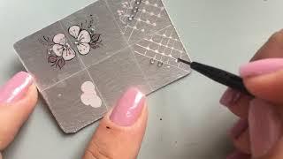 adesivos caseiros para unhas :PASSO A PASSO rendinha