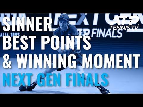 Best Jannik Sinner Shots Title Winning Moment Next Gen Atp Finals 2019 Youtube