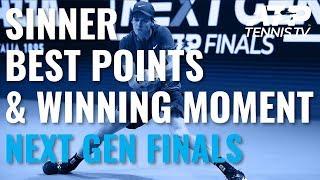 Best Jannik Sinner Shots & Title Winning Moment! | Next Gen ATP Finals 2019