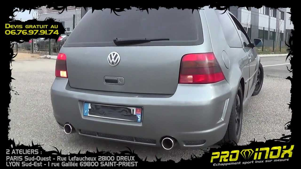 vw golf 4 tdi 115cv chappement inox pro inox youtube. Black Bedroom Furniture Sets. Home Design Ideas