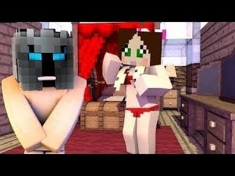 PopularMMOs Pat And Jen Minecraft Pat And Jen SEX CHALLENGE GAMES Lucky Block Mod Modded Mini Game
