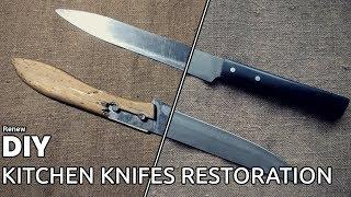 Old Kitchen Knives Restoration