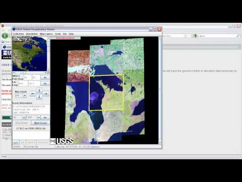 Downloading LandSat Imagery from USGS GLOVIS and Importing it into ERDAS Imagine -- Part 1