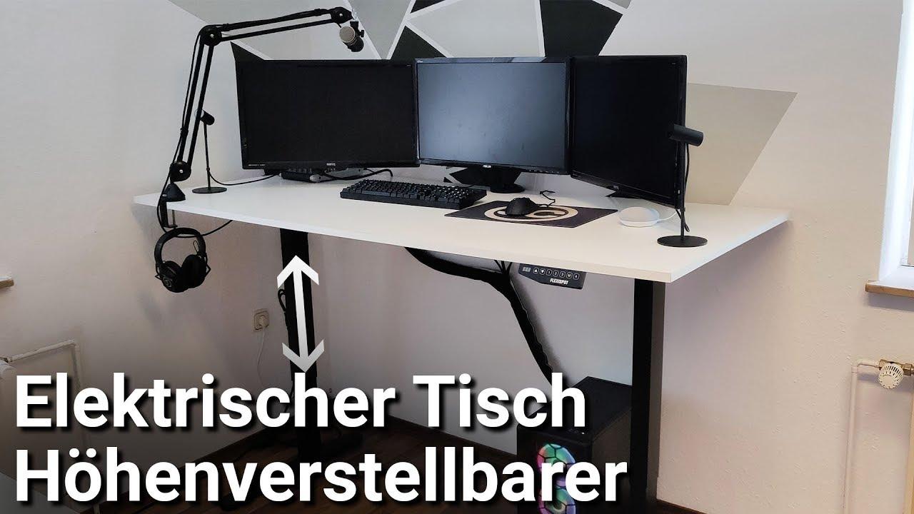 Elektrisch Hohenverstellbarer Schreibtisch Bauen Kabelmanagement