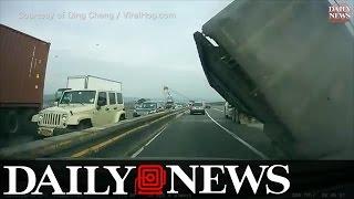 Tractor Trailer Mishap On Tappen Zee Bridge