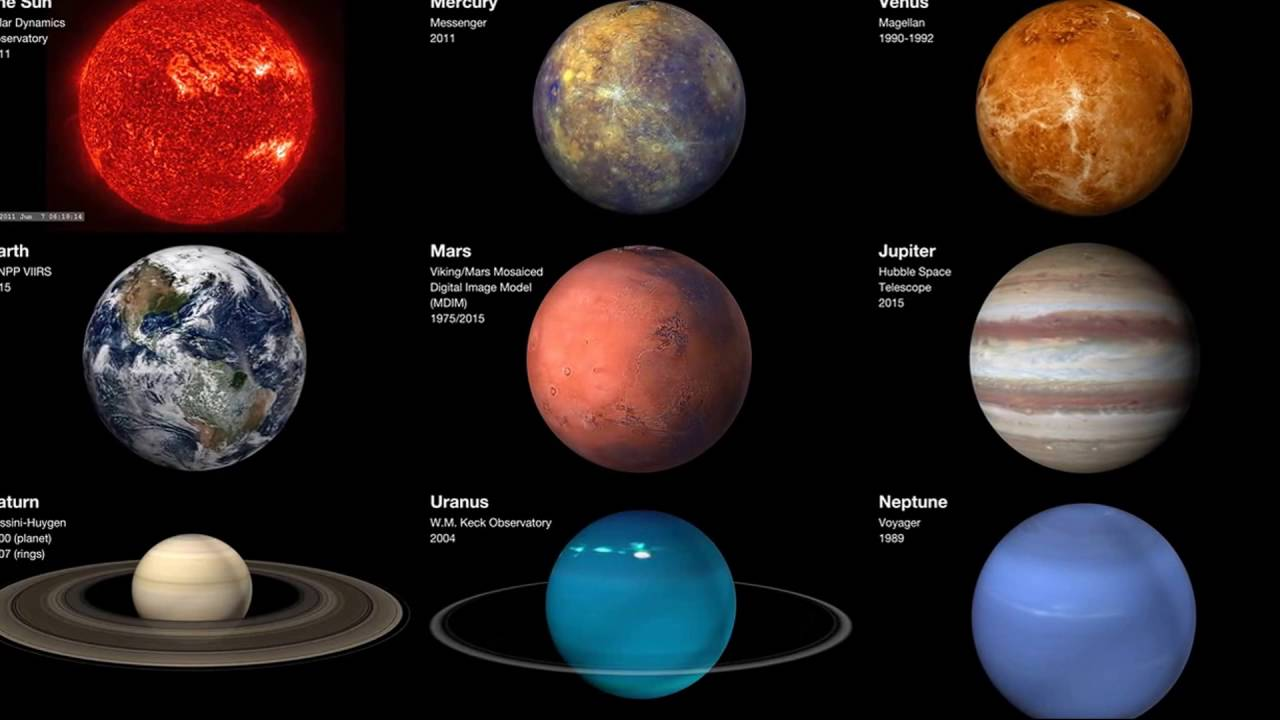 Color in the Solar System The planets are individual worlds which reveal signs of their histories on their surfaces and in their rocks and ices