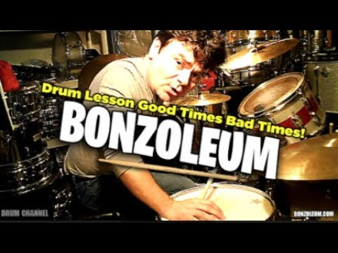 DRUM LESSON ★ GOOD TIMES BAD TIMES Led Zeppelin