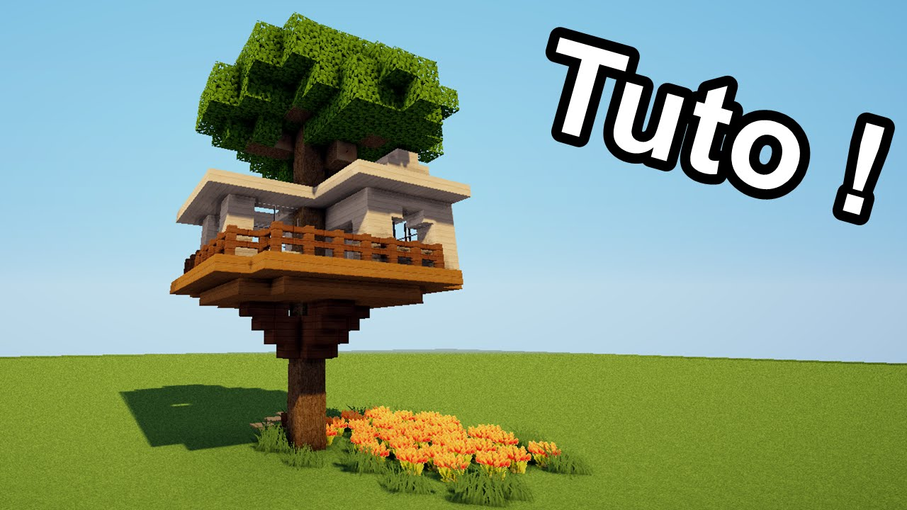 minecraft tuto comment faire une cabane dans un arbre youtube. Black Bedroom Furniture Sets. Home Design Ideas