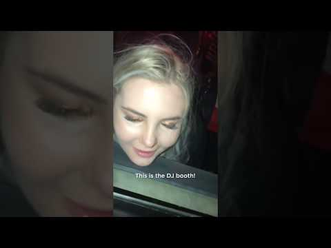 DRUNK GIRL AT NIGHTCLUB TRIES TO ORDER DRINKS AT THE DJ BOOTH