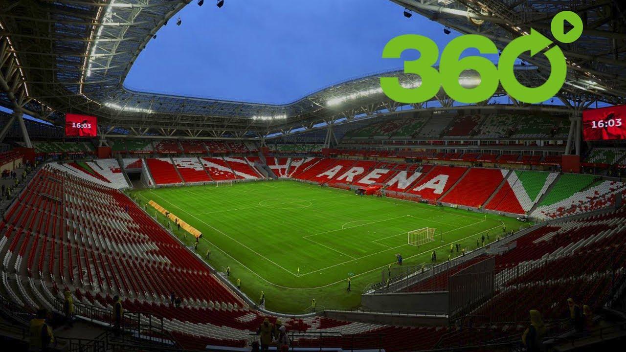 Mundial rusia 2018 el estadio kaz n arena 360 youtube for Estadio arena