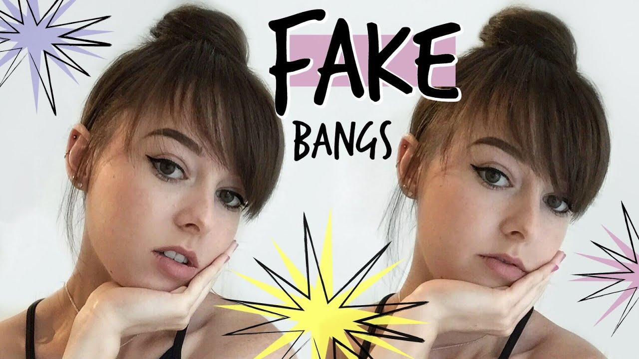 FAKE FRINGE UPDO (FAUX BANGS) - YouTube