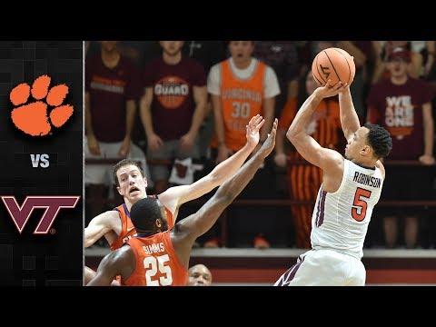 Clemson vs. Virginia Tech Basketball Highlights (2017-18)