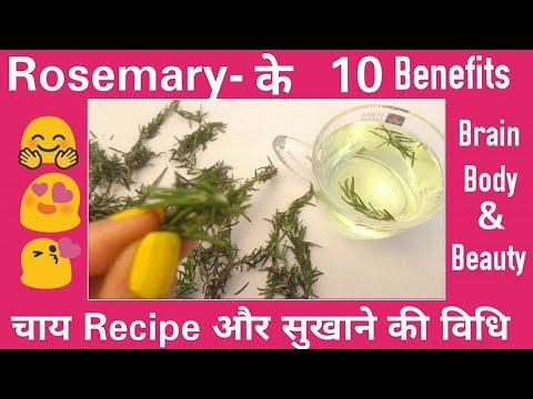 10 Health and Beauty benefits of ROSEMARY, Rosemary के 10 स्वास्थ्य और सौंदर्य लाभ, TEA Recipe