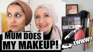 Mum Does My Makeup  Using Only Her Makeup