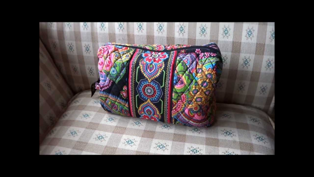 e972f96609 Vera Bradley Large Cosmetic Review - YouTube