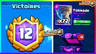 Clash Royale - ENORME Double PACK OPENING TORNADE + 12 Victoires en Super Défi !