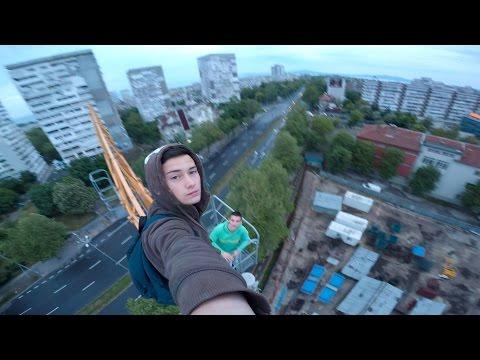 Crane Climb in Burgas, Bulgaria
