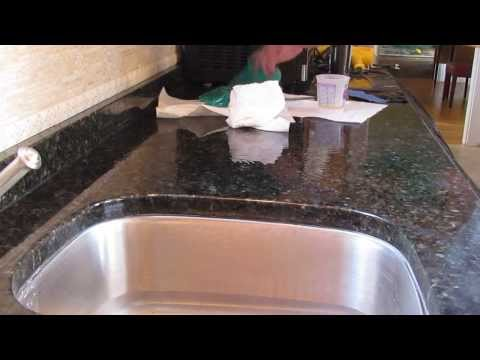 Granite Fabrication- Step By Step How To Fix A Chip In Granite & Match The Surface Shine!