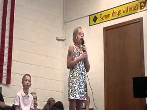 """ANGELA WALDRON SINGING """"NATURALLY"""" BY SELENA GOMEZ AT ROGERSVILLE ELEMENTARY SCHOOL TALENT SHOW 2012"""
